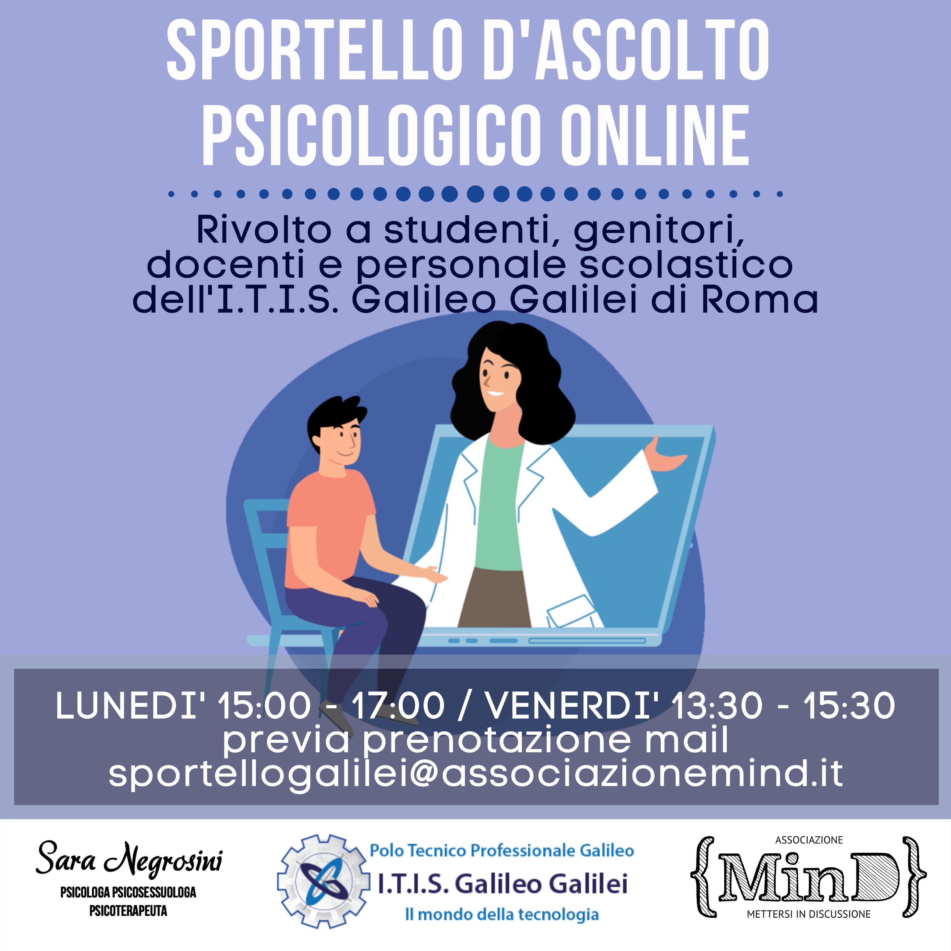 Sportello d'ascolto psicologico online – I.T.I.S G. Galilei Roma