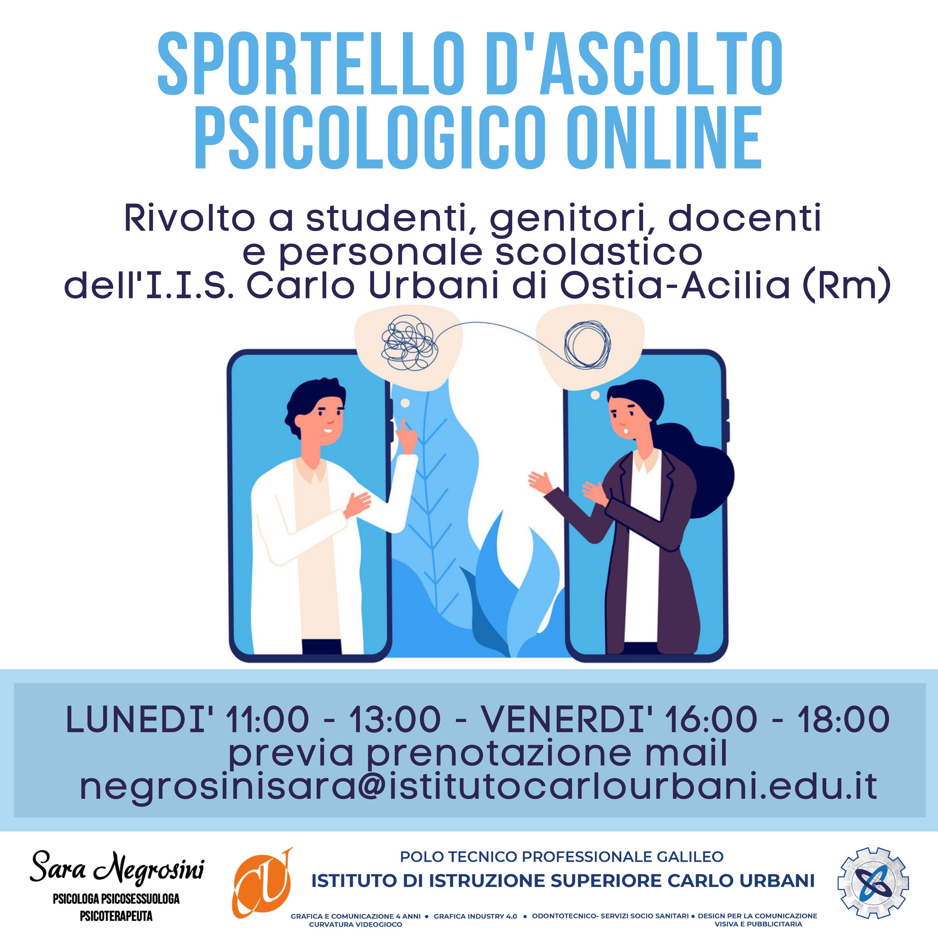 Sportello psicologico online – I.I.S. Carlo Urbani